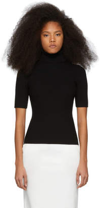 3.1 Phillip Lim Black Ribbed Short Sleeve Turtleneck