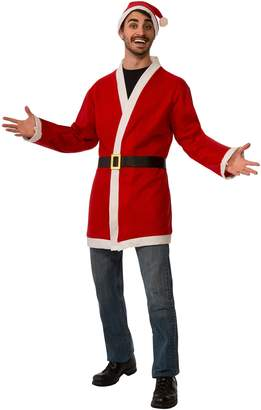 Rubie's Costume Co Rubie's Men's Clausplay Santa Jacket with Belt and Hat