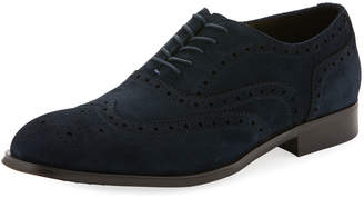 Kenneth Cole Men's Suede Wing-Tip Dress Shoes