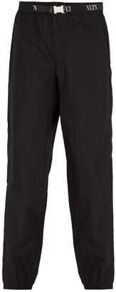 Valentino VLTN logo-jacquard belt trousers