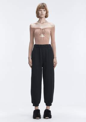 Alexander Wang LONG SLEEVE RUCHED BODYSUIT TOP
