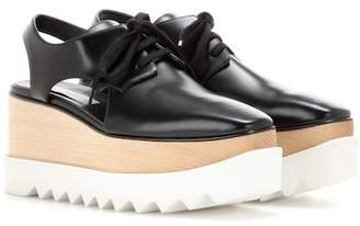 Stella McCartney Elyse platform cut-out Derby shoes