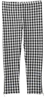 Design History Plaid Jacquard Leggings (Little Girls)