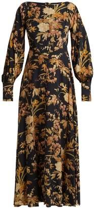 Zimmermann Basque floral-print silk-blend dress