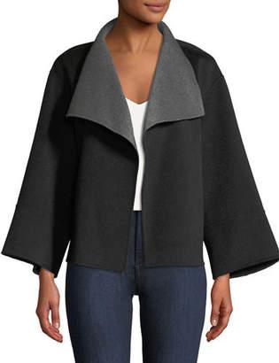 Neiman Marcus Reversible Luxury Double-Face Cashmere Jacket