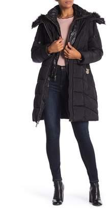 GUESS FUR Faux Fur Trim Jacket