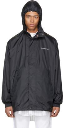 Balenciaga Black Logo Windbreaker Jacket
