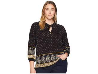 MICHAEL Michael Kors Size Paisley Garden Border Top Women's Clothing