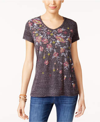 Style&Co. Style & Co Puff-Printed Graphic T-Shirt