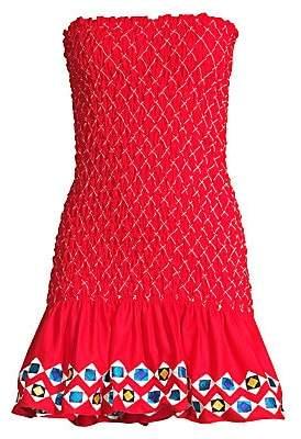 Alexis Women's Fatima Shirred Strapless Mini Dress