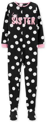Carter's Carter Little & Big Girls Sister Dot-Print Pajamas