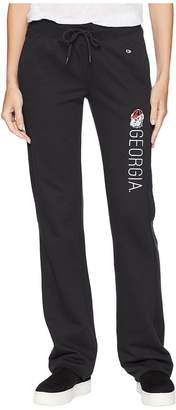 Champion College Georgia Bulldogs University Fleece Open Bottom Pants Women's Casual Pants