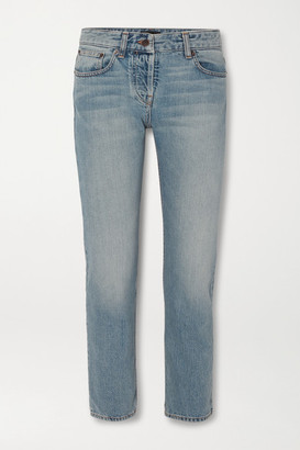 The Row Ashland Cropped Mid-rise Straight-leg Jeans - Light denim