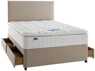 Silentnight Miracoil 3 Pippa Memory Foam Pillowtop Divan Bed With Storage Options