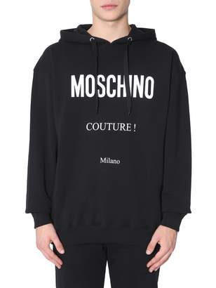 Moschino Oversized Fit Sweatshirt With Hood