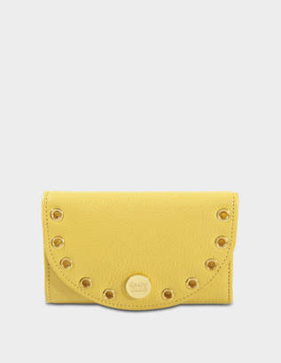 See by Chloe Kriss Compact Wallet in Bright Gold Calfskin