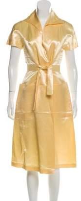 Guy Laroche Linen & Silk Midi Dress