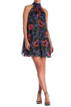 French Connection Lisette Floral Print Sequin Halter Dress