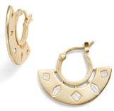 Gorjana Maya Cubic Zirconia Huggie Fan Earrings