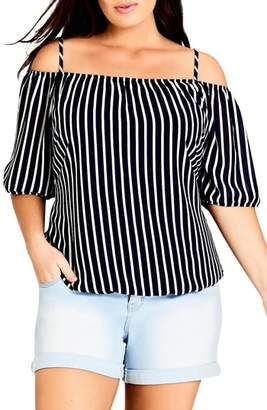 City Chic Sweet Summer Cold Shoulder Top