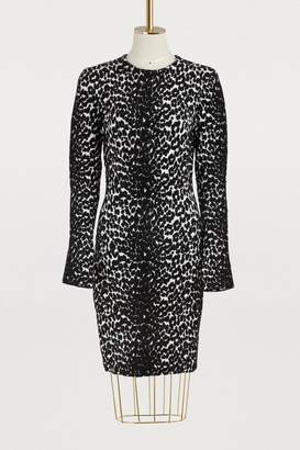 Givenchy Leopard long sleeved dress