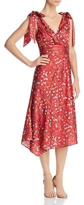 Keepsake Hold Back Tie-Detail Floral Dress