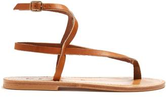 K. Jacques Delta wraparound leather sandals