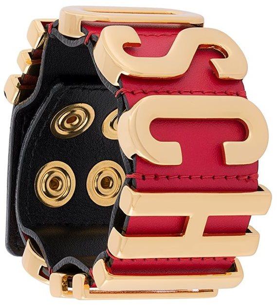MoschinoMoschino logo plaque bracelet