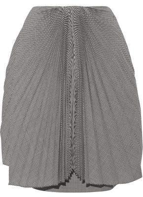 Facetasm Pleated Gingham Wool Skirt