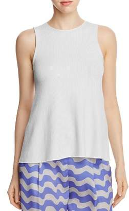 Armani Collezioni Ribbed Knit Sleeveless Top