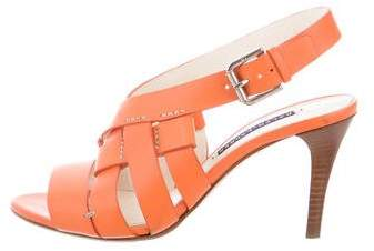 Ralph Lauren Collection Leather Slingback Sandals