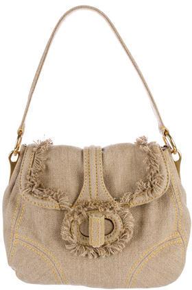pradaPrada Canapa Fringe Shoulder Bag