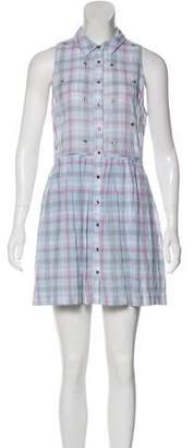 Elizabeth and James Plaid Mini Dress