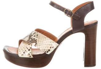 Chie Mihara Candace Ankle Strap Sandals beige Candace Ankle Strap Sandals