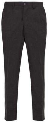 Altea Dumbo Checked Wool Blend Trousers - Mens - Charcoal
