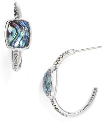 Women's Judith Jack Abalone Hoop Earrings $125 thestylecure.com