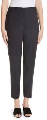 Theory Pinstripe Straight Leg Trousers