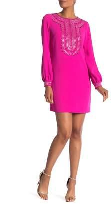 Trina Turk trina Kapono Embellished Stud Long Sleeve Dress