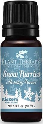 Blend of America Plant Therapy Snow Flurries Holiday Synergy Essential Oil 10 ml (1/3 oz). 100% Pure