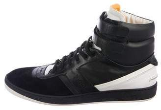 Fendi Suede & Leather Sneakers