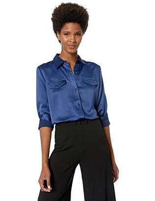 Lysse Women's Satin Brinkley Button Down Shirt