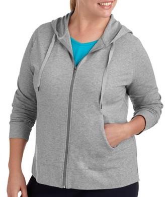 Danskin Womens Plus Size Dri More Zip Up Hoodie