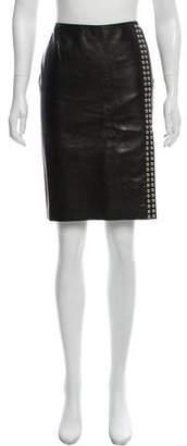 Dolce & Gabbana Embellished Leather Skirt