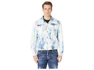 DSQUARED2 Shreaded Bleach Wash Denim Jacket