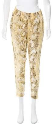 Enza Costa Mid-Rise Crepe Pants