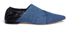 3.1 Phillip Lim3.1 Phillip Lim 'Babouche' denim leather flats