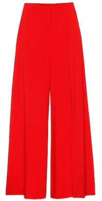 Stella McCartney Crêpe wide-leg trousers