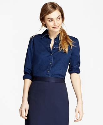 Cotton Chambray Shirt $78 thestylecure.com