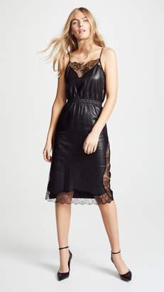 Fleur Du Mal Leather Rose Lace Dress