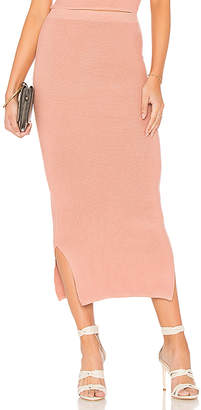 MinkPink Knit Midi Skirt